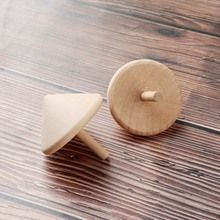 Natural Wooden Gyro Spinning Top Classic Interesting Children Educational Toys Gift Rotating Spinner for DIY