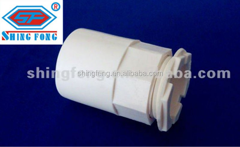 PVC conduit pipe accessories pvc Adapter electrical fittings male bush