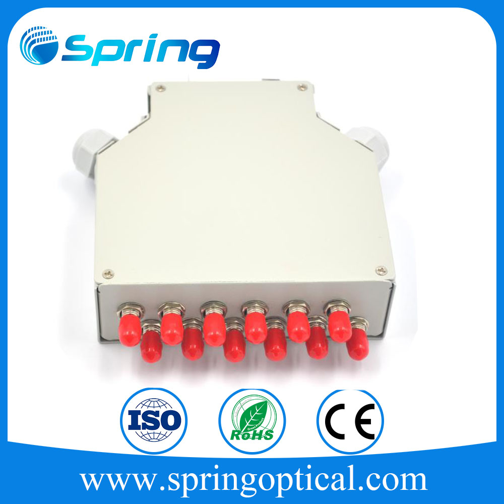 Latest New 6 port Optical Fiber LC UPC SM Duplex DIN Rail Splice Box