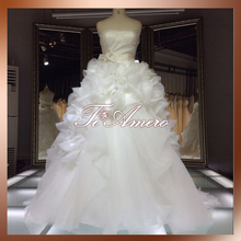 Customized Dresses For Autumn Ball Organza Ruffle Skirt Latest Design Online Shop Alibaba Wedding Party Dresses