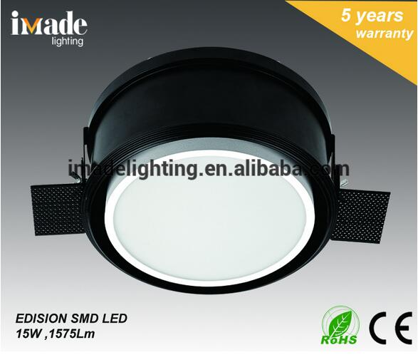 Popular adjustable aluminum trimless IP20 Recessed SMD LED Downlight