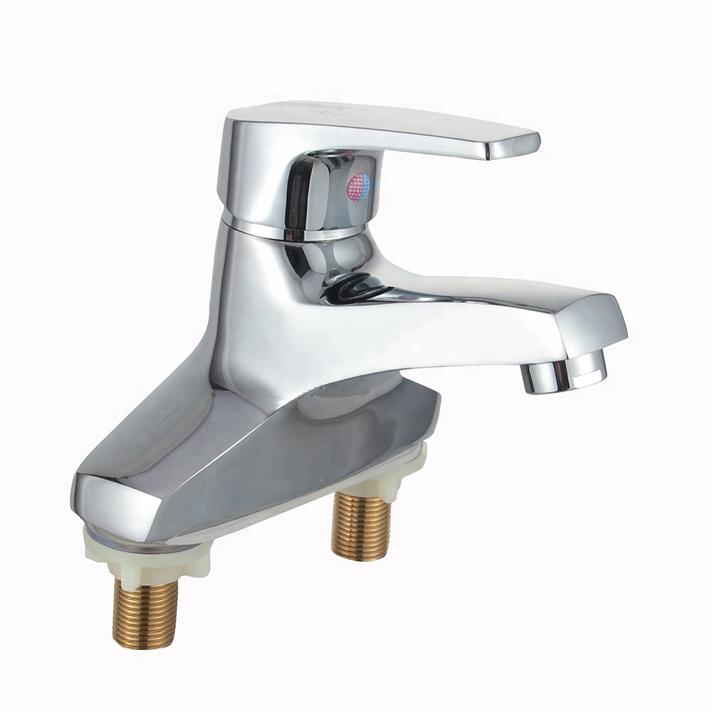 Beau Single Handle Two Hole Bathroom Faucets Brass Chrome Plating Basin Mixer  Faucets