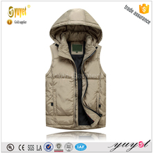 man fashion hooded down vest waistcoat2015