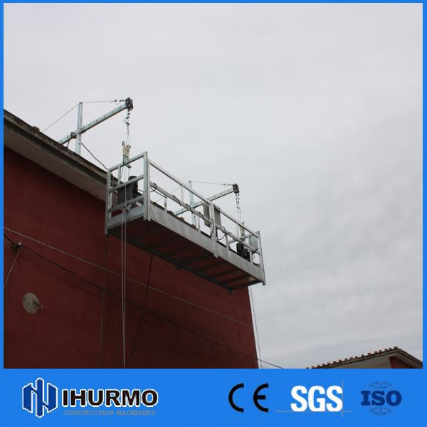High Safety zlp630 series hot galvanized suspended working platform/construction equipment
