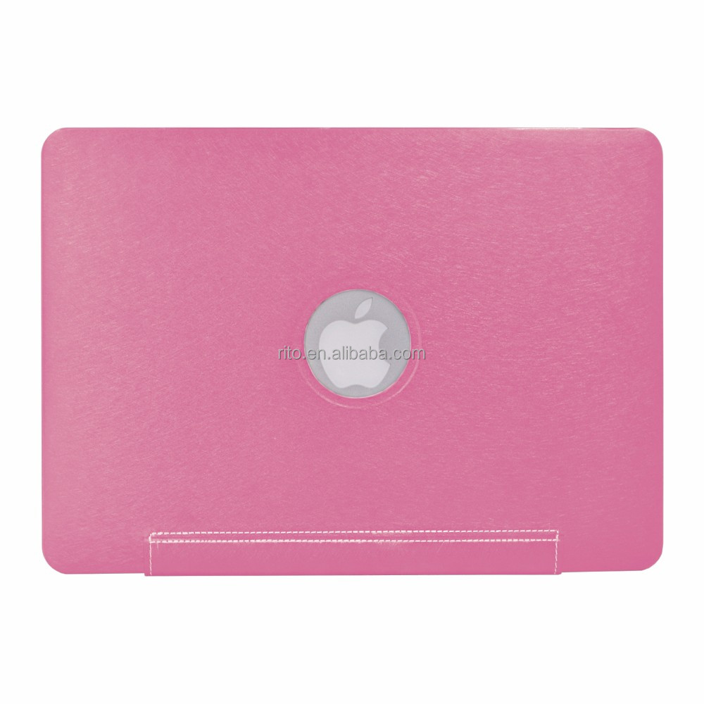 3D Leather Sleeve Protect Case for Apple Macbook, golden pink