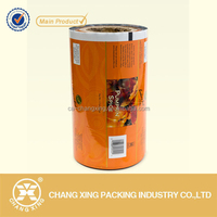 Flexible laminated aluminum foil food packaging food grade plastic roll film for spices fish soups fruits and vegetables