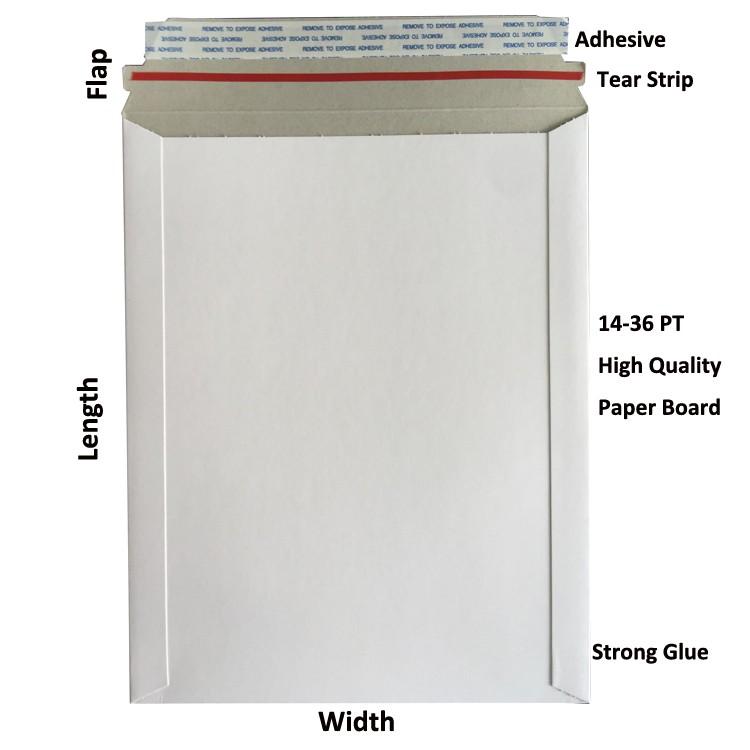 White all board rigid flat CD mailer