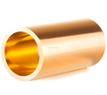Brass tube for self-lubricating bearing