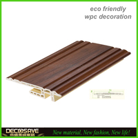 easy installation europe style wpc plastic baseboards