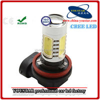 High power led fog light for car H1/ H3/ H4/ H7/ H8/ H9/ H10/ H11/ 9005/ 9006 auto 11w led fog light
