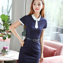 Personalized tailored woman one-piece office dress