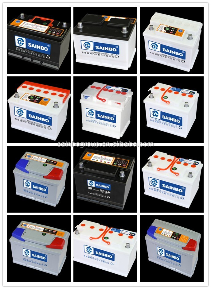 Good performance JIS Standard N100 12v 100ah dry charged car batteries for TRUCK