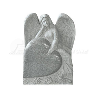 China Grey Granite Angel Engraving Tombstone