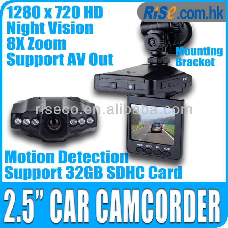 "2.5"" IR LED Video 270 Night Zoom SD DVR Camera Camcorder 720p HD Car Recorder"