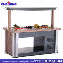 Table top cooling refriger buffet salad bar scooter bars
