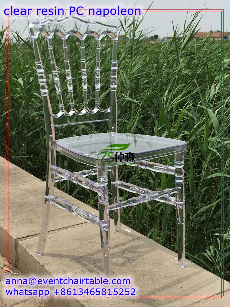 Party Event Hotel Furniture , Transparent Wedding Rental Napoleon Chair