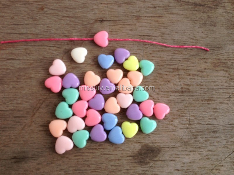 colorful acrylic peach heart beads charms cute plastic charms findings