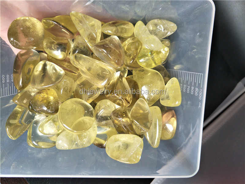free Nature Citrine Crystal Gem Stone Original Yellow Crystal Mini Stones