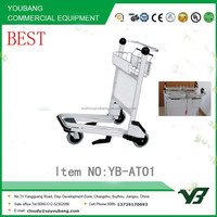 2015 New 3 wheels 6063 aluminum alloy airport luggage trolley cart with brake (YB-AT01)