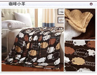 2015 fleece fabric with sheep fabric blanketand anti-pilling fleece flannel blanket bed sheet