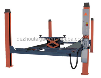 4T wheel alignment 4 post hydraulic car lift for home garage