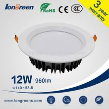 CE & SAA Approve SMD Dimmable 12W LED downlight with cut out 90mm, led down light with light degree lampadas de led