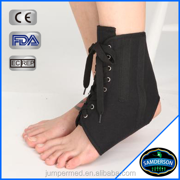Adjustable Lace Up Canvas Ankle Supporter/Ankle Immobilizer/Ankle Sleeve