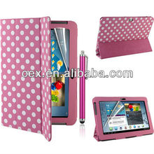 For Samsung Galaxy Tab 2 10 Inch Tablet P5100 P5110 Magnetic Ultra Thin PU Leather Stand Case with Free Screen Protector