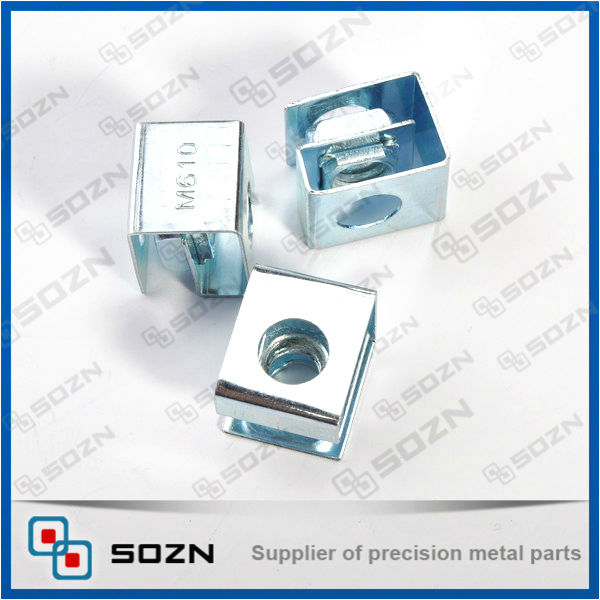 factory making- M4 Zinc plated square cage nut