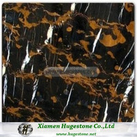 Attractive in Price and Quality Floor Tiles Black and Gold Marble Block for Sale