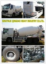 HOWO self load concrete mixer truck