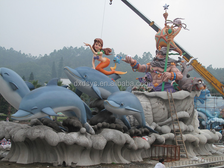 Customized fiberglass cartoon character cow chair sculpture for theme park decoration