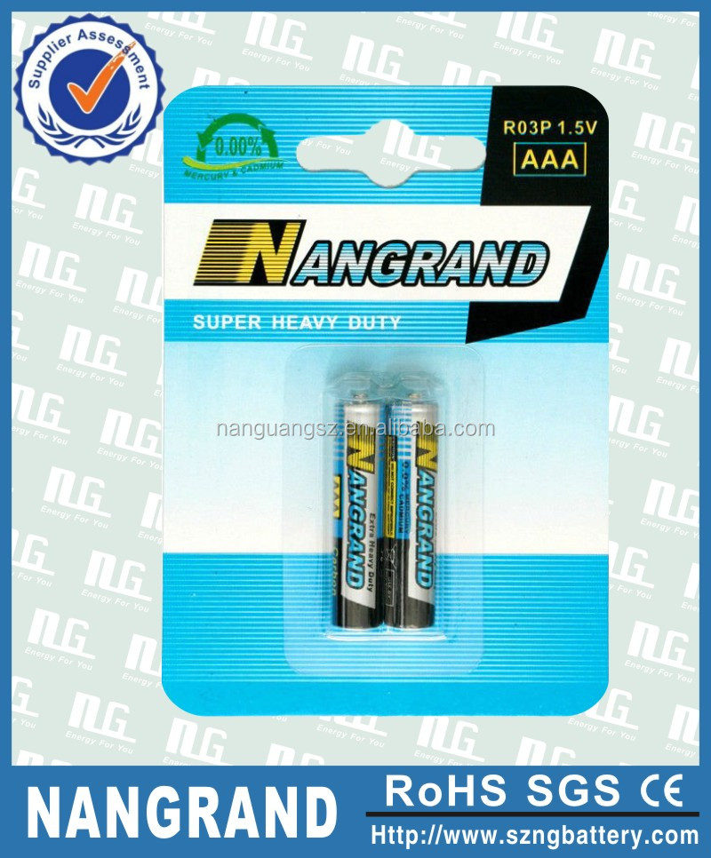 High capacity 1.5v r03p aaa um4 dry battery