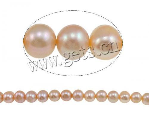 natural pink Round freshwater cultured pearls with high quality