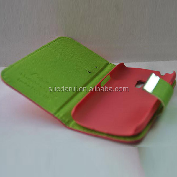 3 Color PU Leather Stand Wallet Book Case For Samsung Galaxy S2 i9100