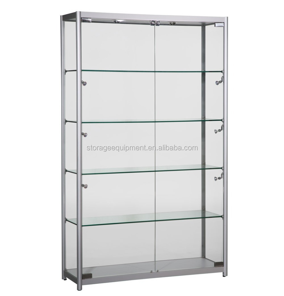 Modern design used glass display cases