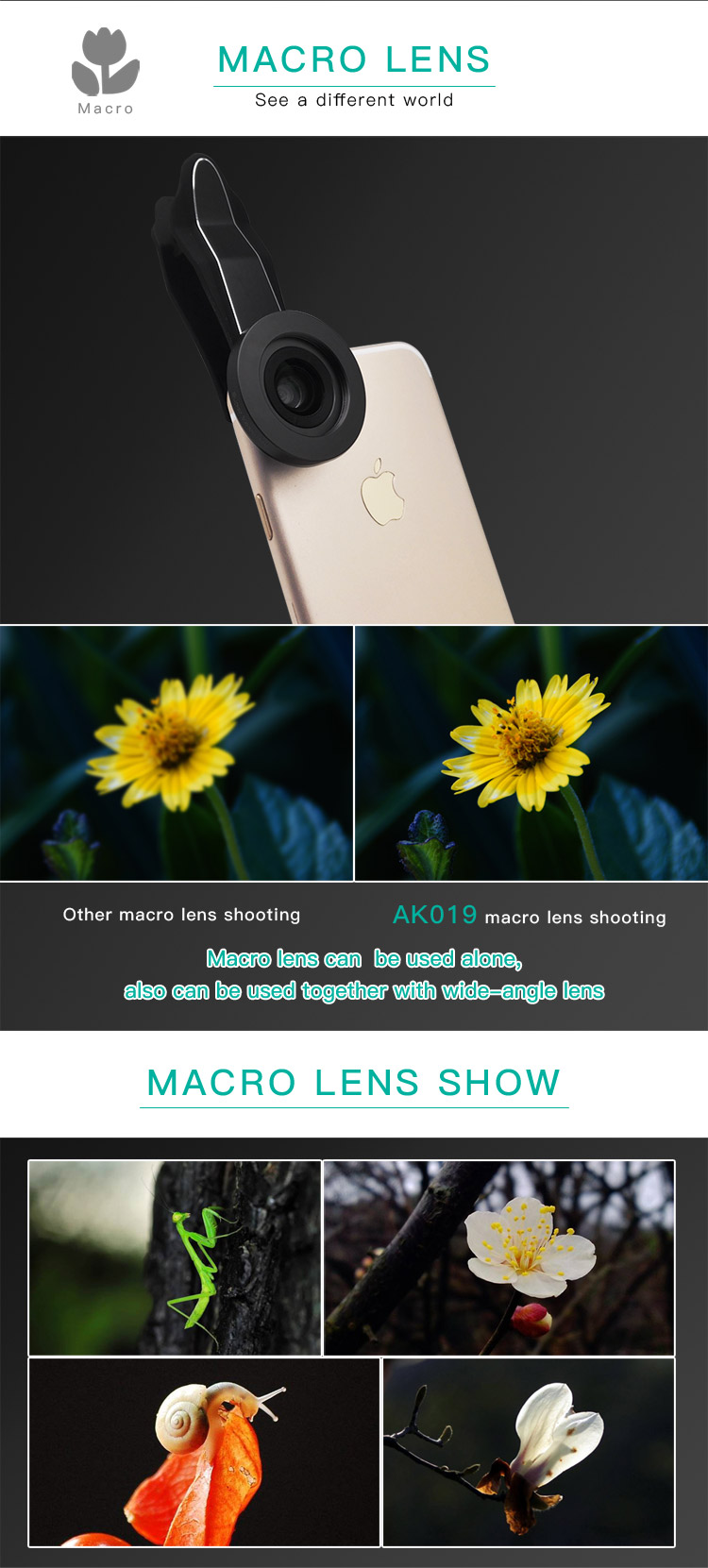 Smart Phone Photography Gadgets Accessories Mobile Phone Camera Lens 4K HD Wide Angle Lens for iPhone