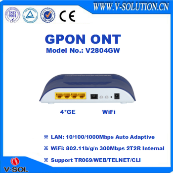 4GE+WiFi GPON ONT with CE Certification for FTTH Network Solution
