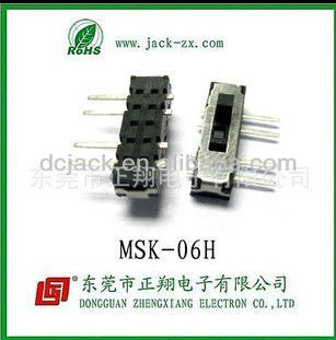 2013 new style MSK-06H micro switch and slide switches for the Household electrical appliances