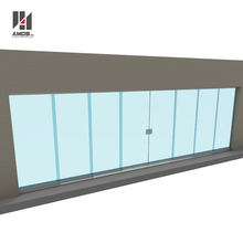 Exterior commercial aluminum frameless glass stacking sliding doors