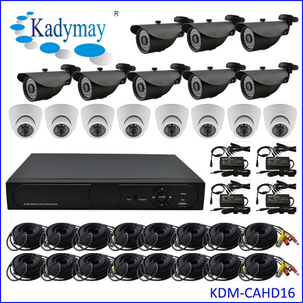 OEM 16ch AHD DVR Home Security System HD Kits