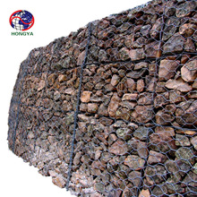 China anping PVC coated Galvanized hexagonal woven wire mesh 3*1*1m double twist gabion box price