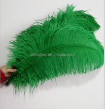 70-75cm dyed green ostrich feather party wedding decoration ostrich plumes