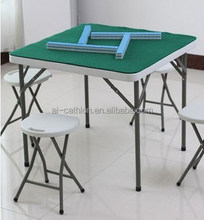 "34"" factory price plastic square portable mahjong laptop foldable table"