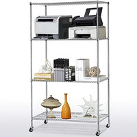 1F NSF Approval 4 Tier Heavy Duty Movable Metal Display Shelf - Full Sizes and Finish Available