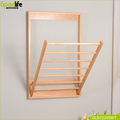 Solid wood beech wood clothes tower rack for bathroom accessory and outdoor balcony