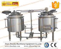 200L beer plant brewing equipment, mash tun, hot liquor tank and fermenter