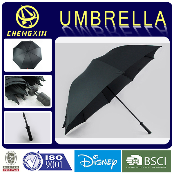 OEM rain hand open golf umbrella with lighted handle