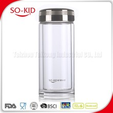 Good Reputation Heat Resistant Glass Water Bottle