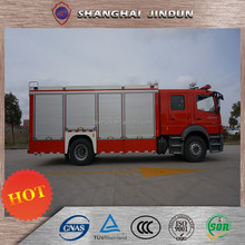 3 Axles Foam Water And Dry Powder Tank Fire Fighting Truck